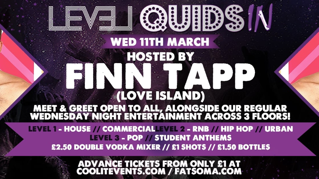 Quids In Wednesdays – with Finn Tapp from Love Island