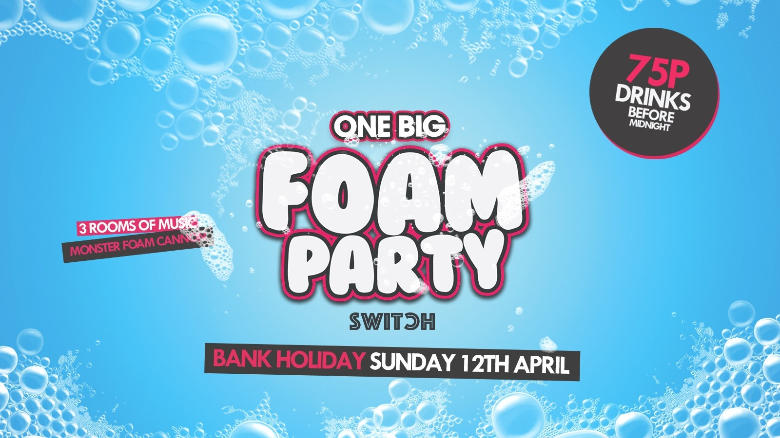 Easter Sunday One Big Foam Party