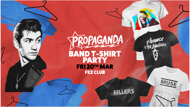 Propaganda Cambridge – Band T-Shirt Party