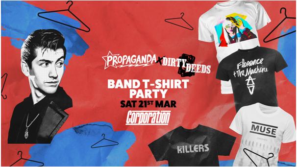 Propaganda Sheffield & Dirty Deeds – Band T-Shirt Party
