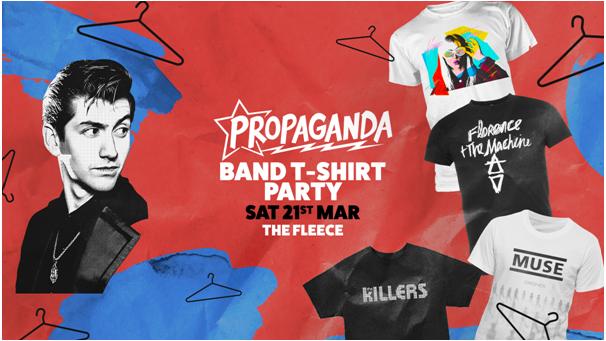 Propaganda Bristol – Band T-Shirt Party