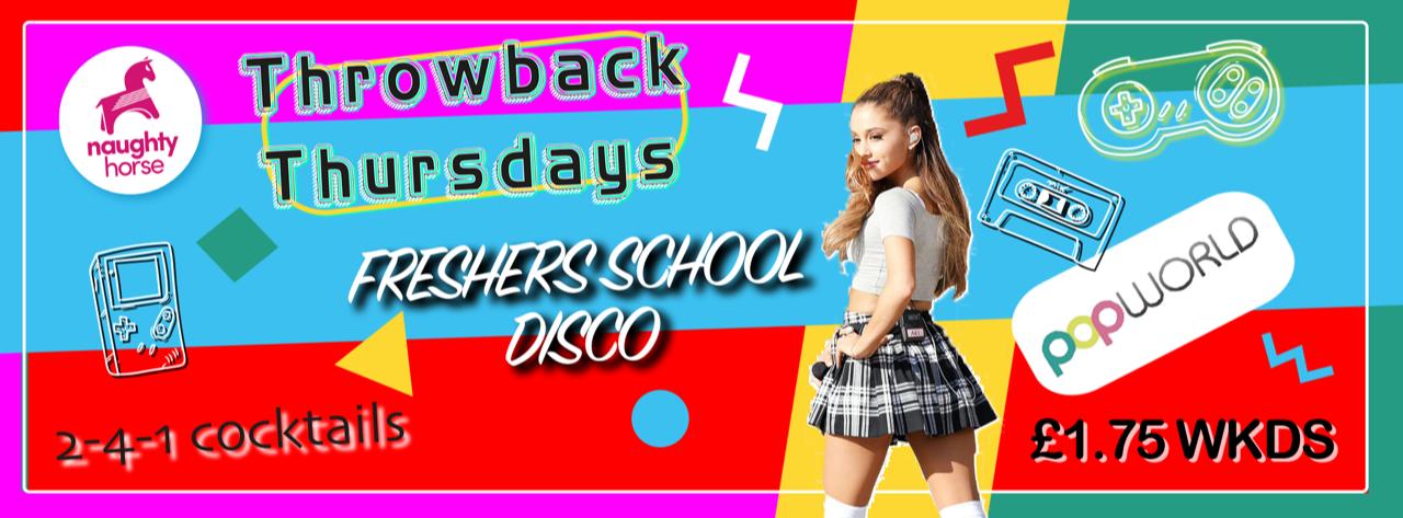 Throwback Thursdays – FRESHERS SCHOOL DISCO! (BCU/UCB)