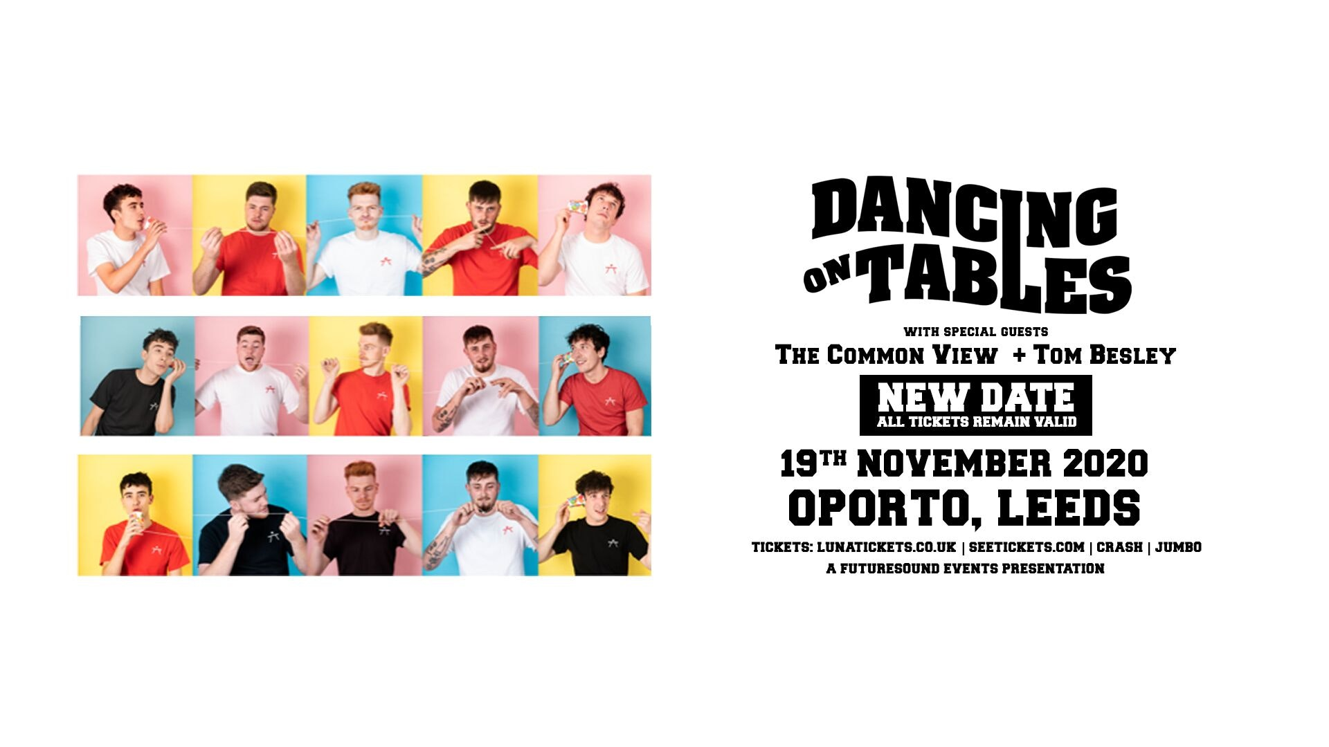Dancing on Tables – new date