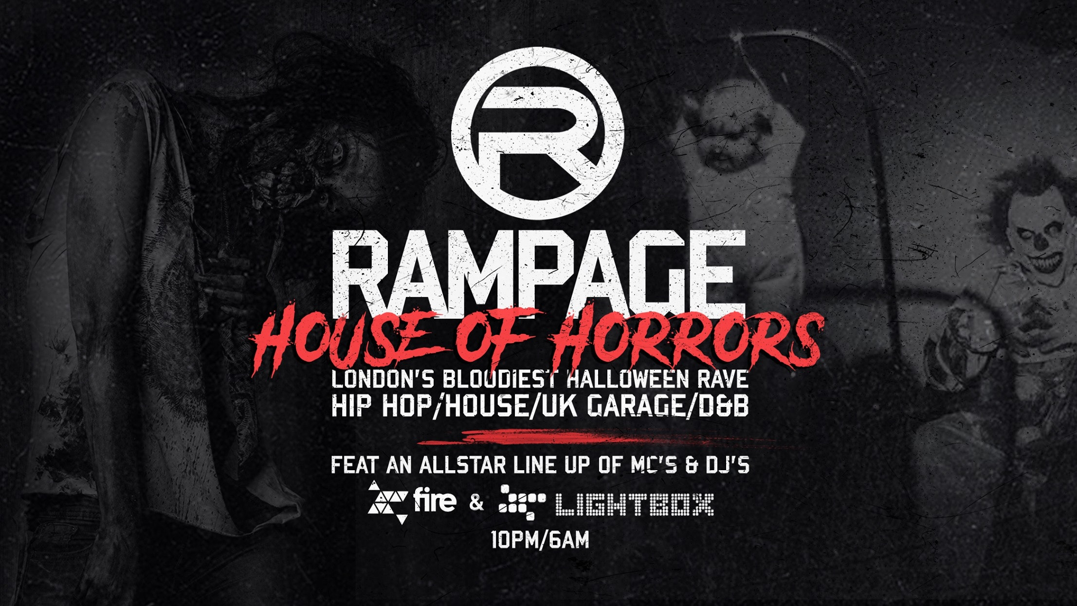 The Rampage Sound House Of Horrors Halloween Rave – ft Crazy Cousinz & DJ Pied Piper