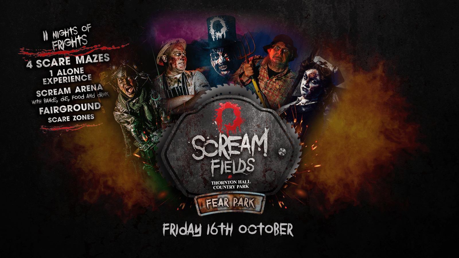 7.30PM – Screamfields: Friday 16th October 2020