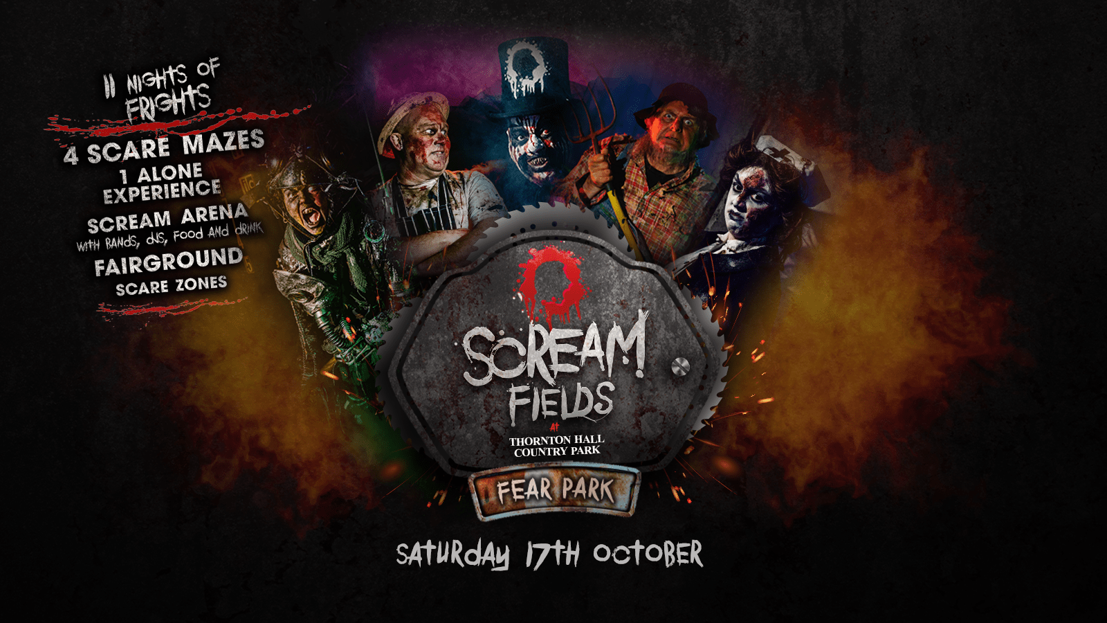 6.00PM – Screamfields: Saturday 17th October 2020