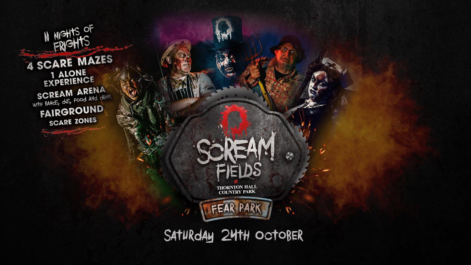 7.30PM – Screamfields: Saturday 24th October 2020