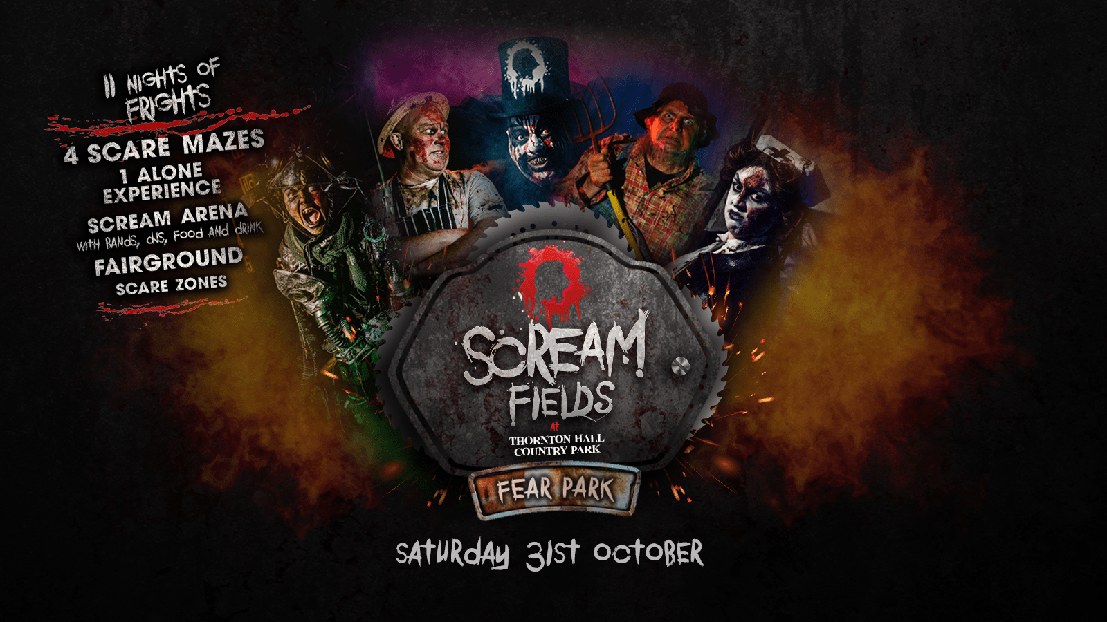 7.30PM – Screamfields: Saturday 31st October 2020
