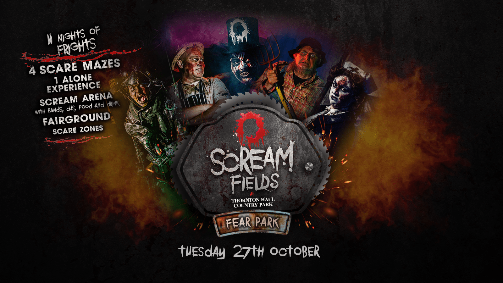 7.30PM – Screamfields: Tuesday 27th October 2020