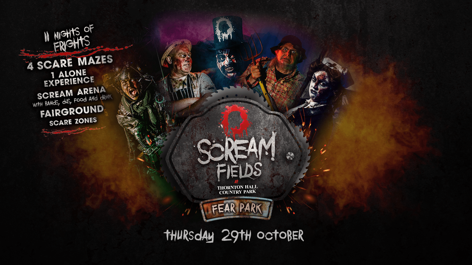 7.30PM – Screamfields: Thursday 29th October 2020