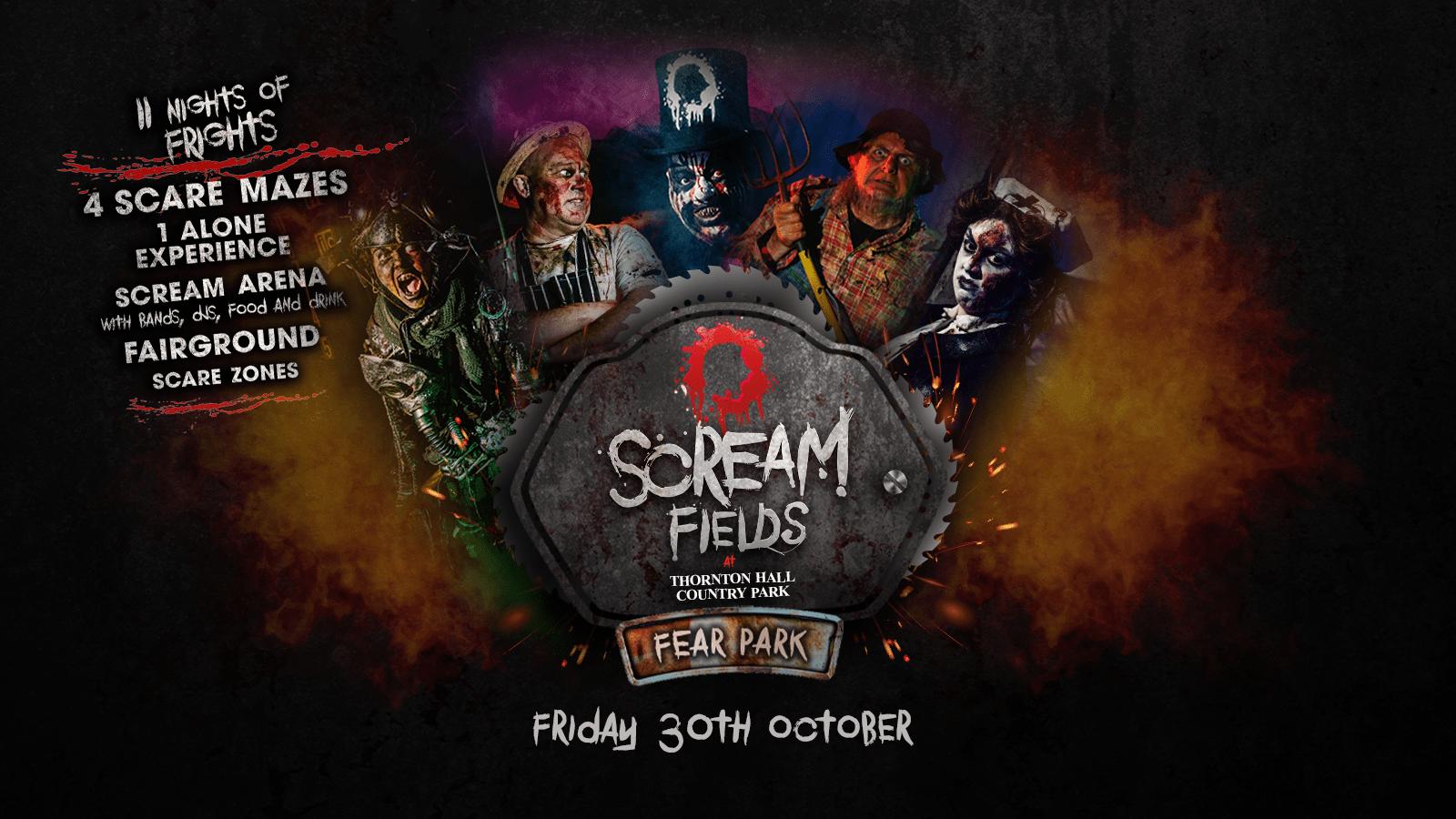 7.30PM – Screamfields: Friday 30th October 2020