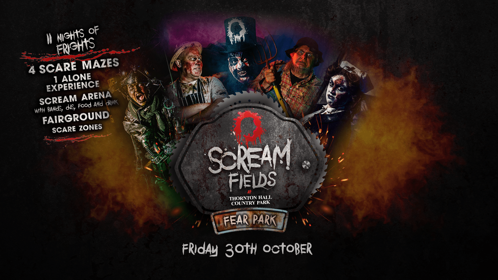 6.00PM – Screamfields: Friday 30th October 2020