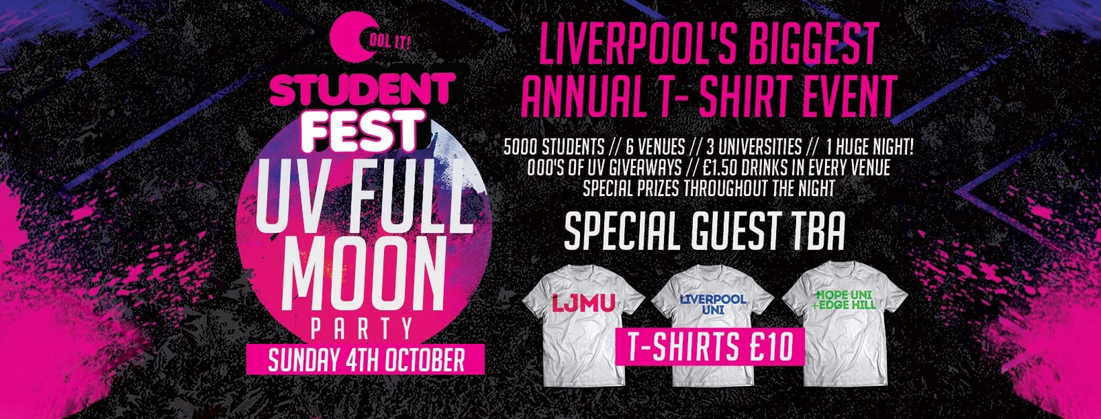 STUDENT FEST 2020 / The UV Full Moon Party / Special Guest TBA