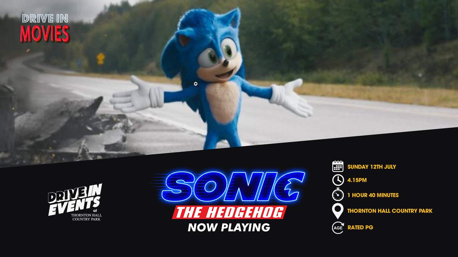 Sonic The Hedgehog (Drive In Movie)
