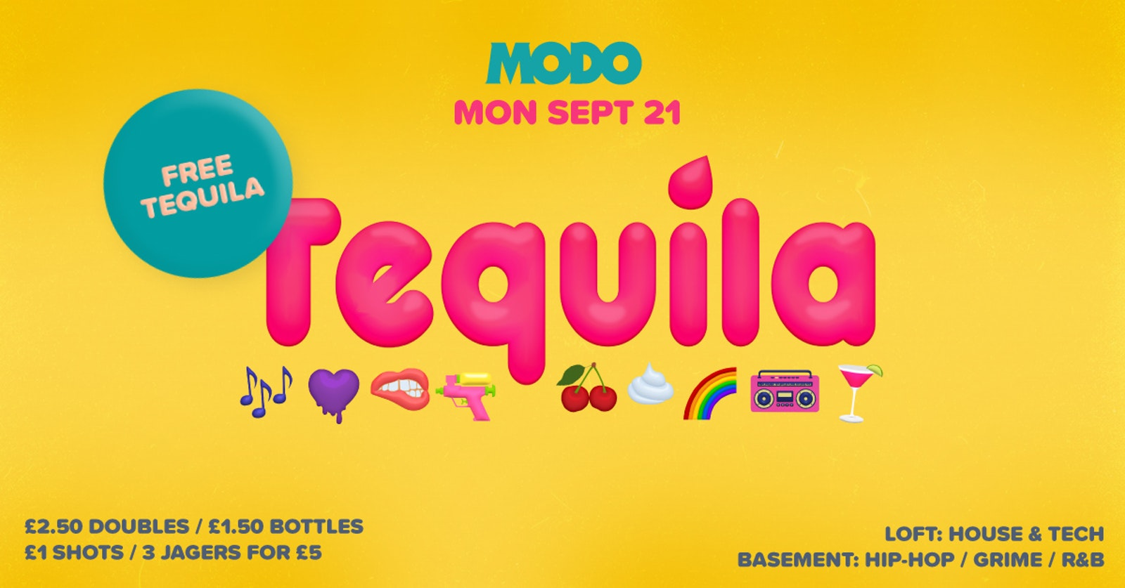 Tequila : Freshers Monday : Modo, Concert Square