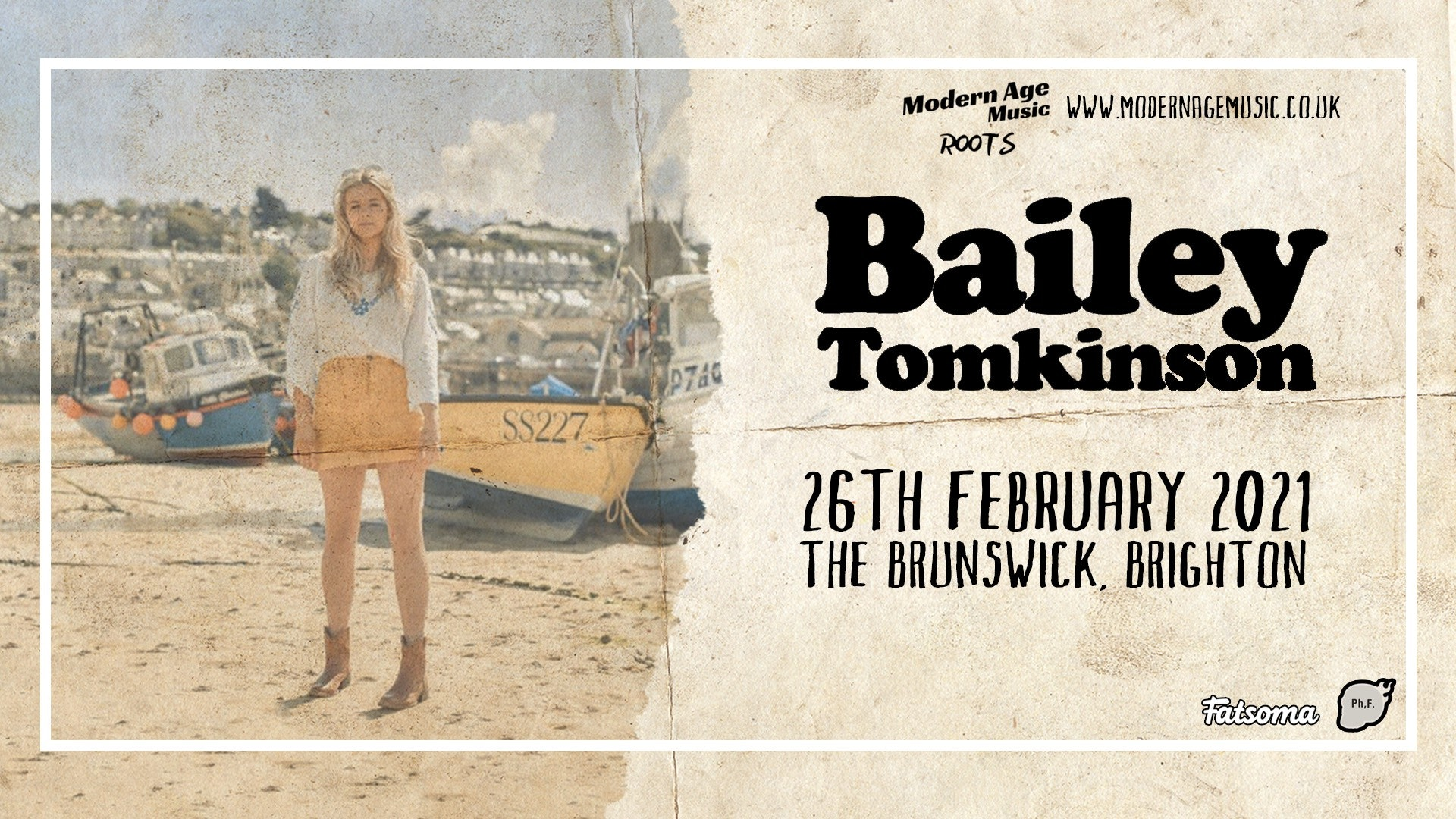 Cancelled: Bailey Tomkinson live at The Brunswick, Brighton