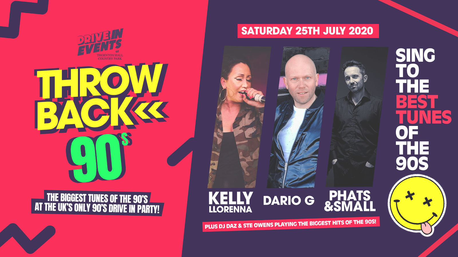 Throwback 90's (Drive In Event) ft Kelly Llorenna, Phats & Small + more