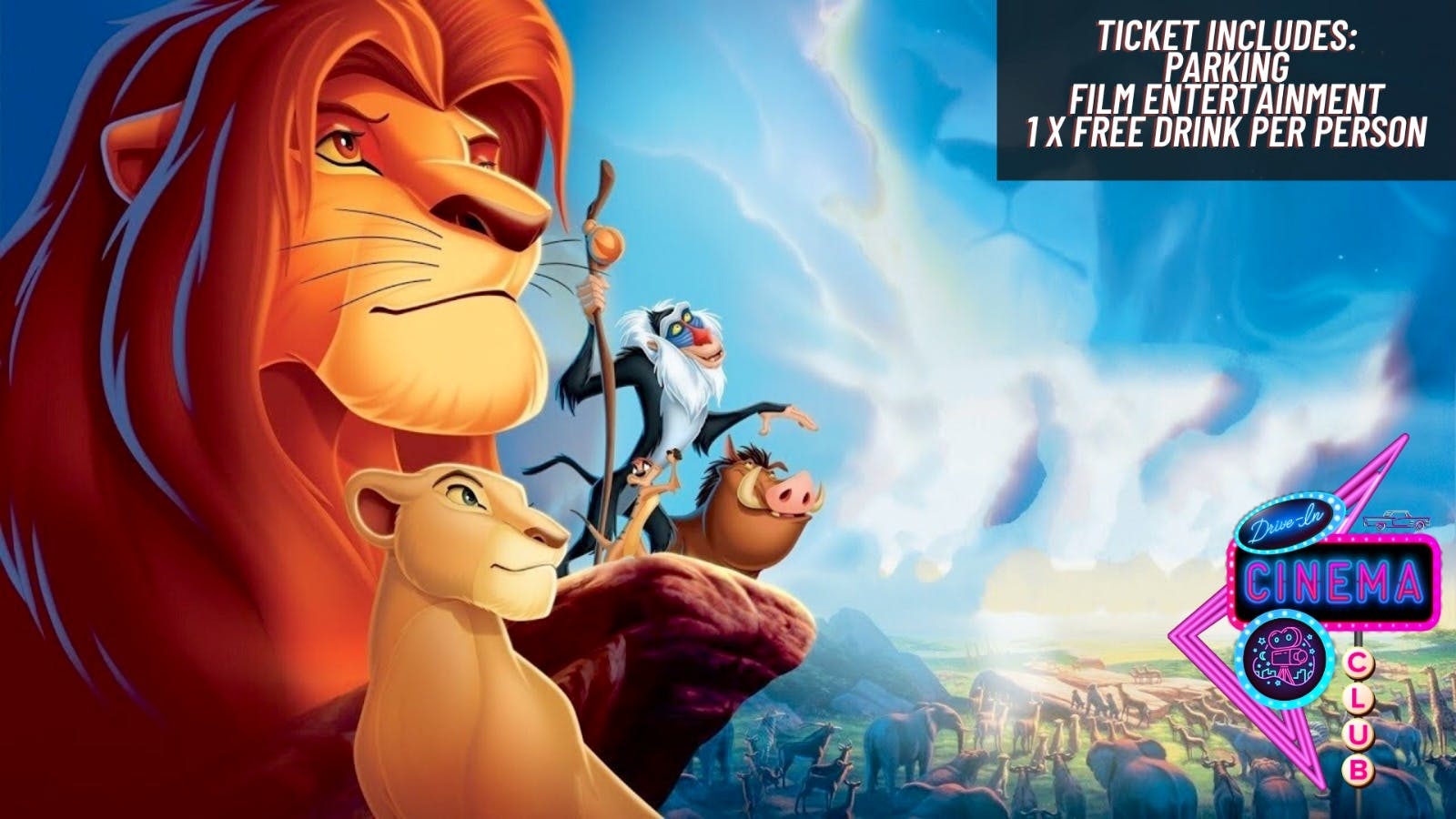 The Lion King 1994 Thursday 23rd July 16 30 Drive In Cinema Club