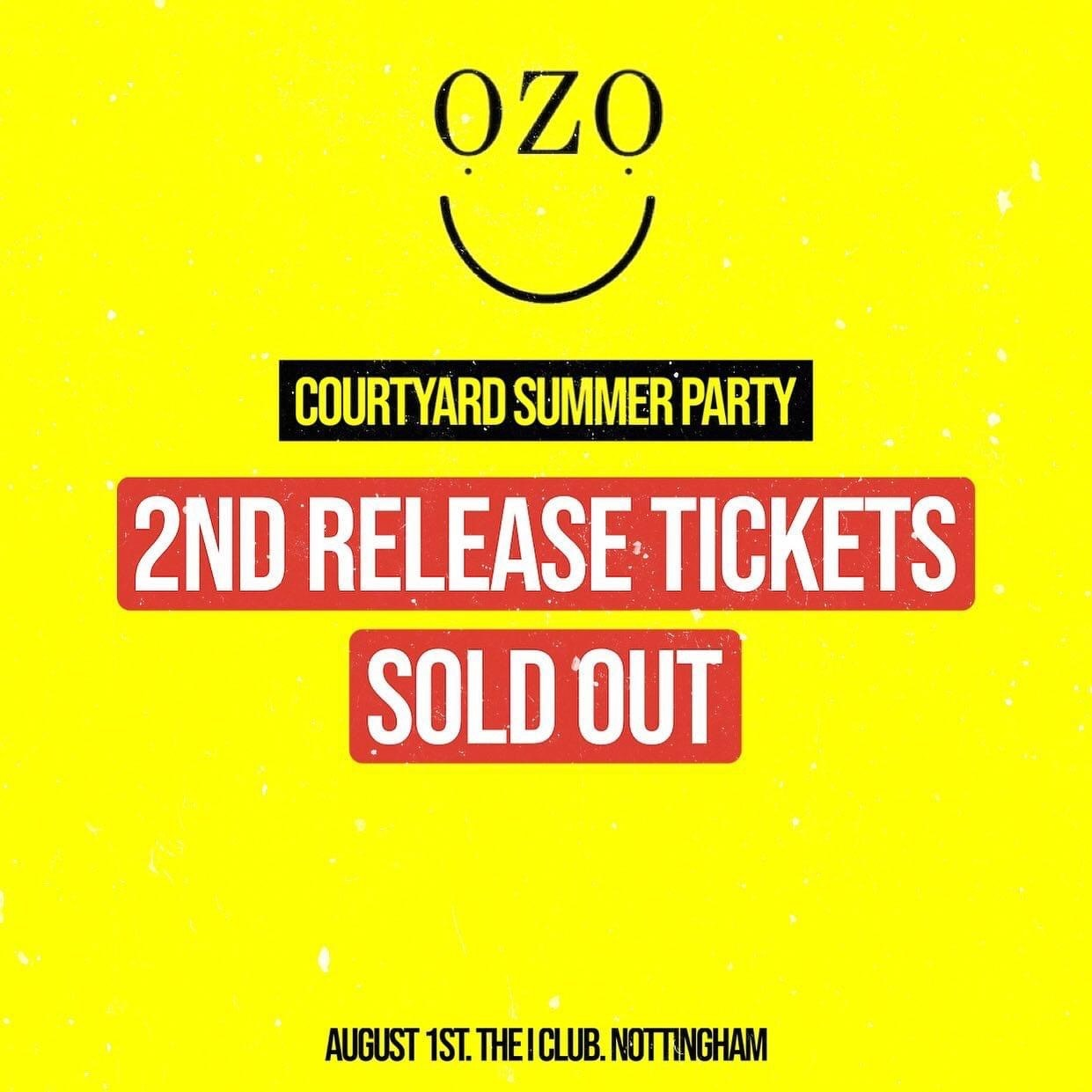 OZO- Tickets On Sale!