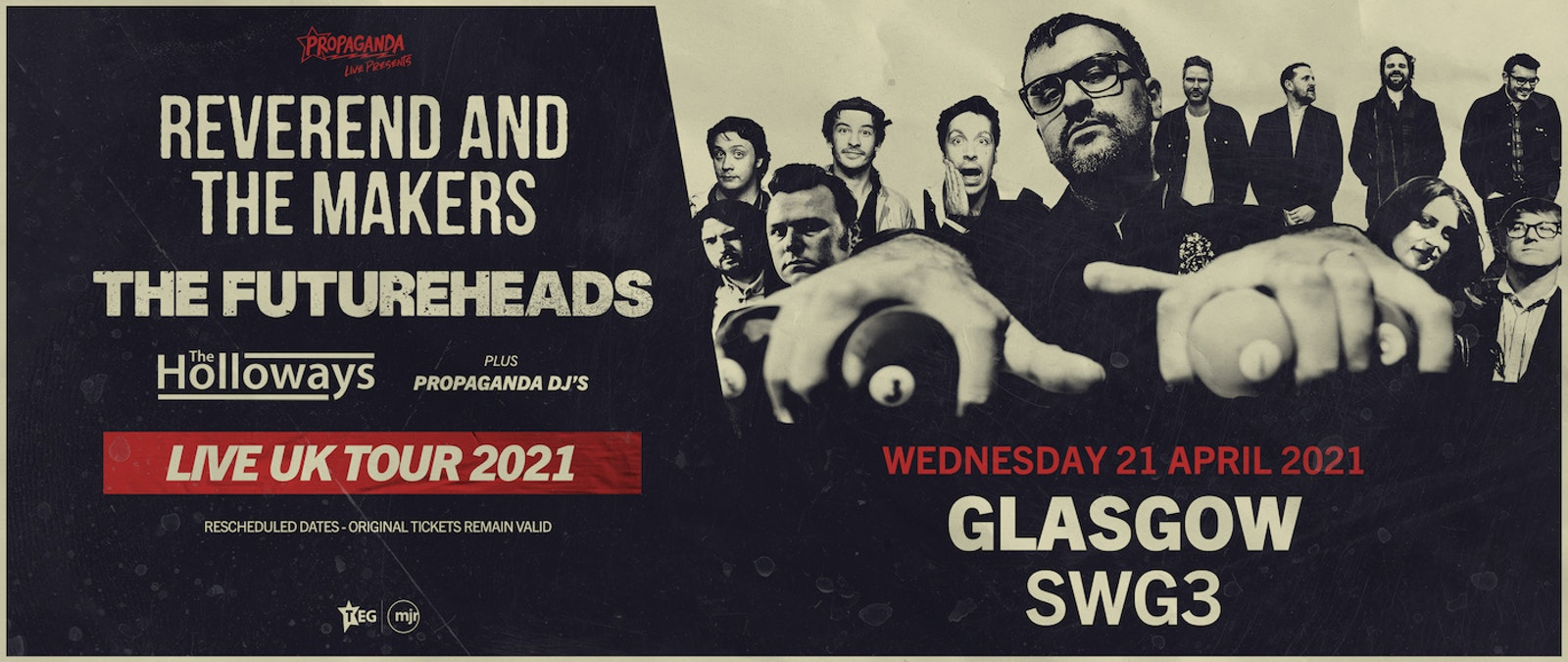 Propaganda Live Tour Featuring: Reverend and The Makers, The Futureheads & The Holloways