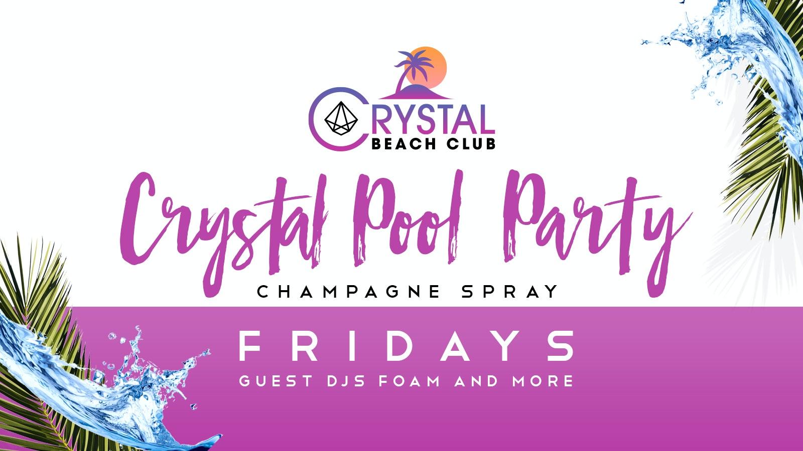 Malia Champagne Spray Pool Party