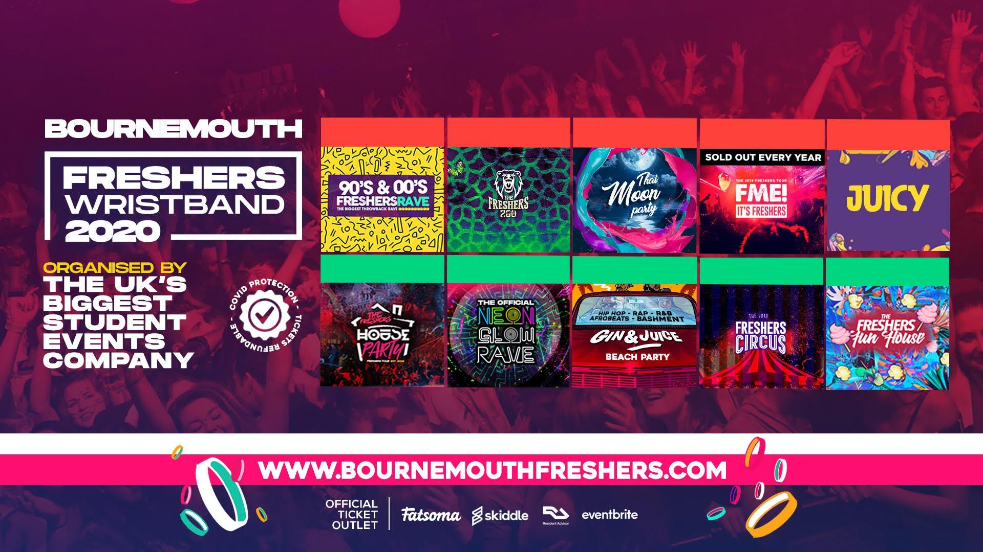 The Bournemouth Freshers Wristband // Bournemouth Freshers 2020