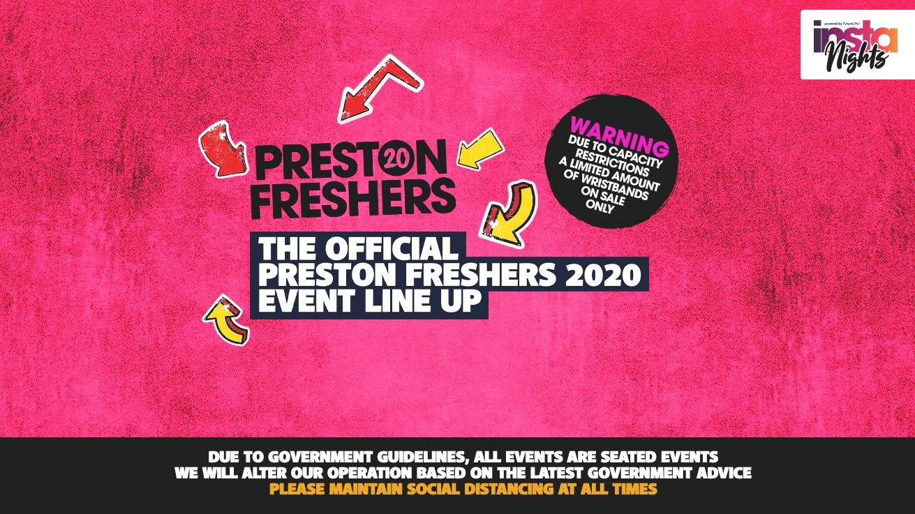 UCLAN Preston Freshers 2020 Wristband