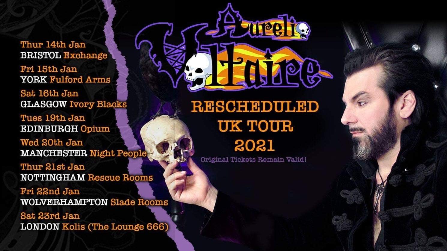 Aurelio Voltaire UK 2021 TOUR – Nottingham