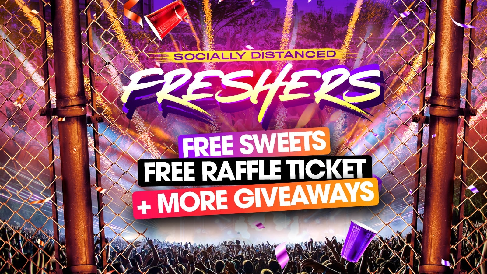 Socially Distanced Freshers – The Socially Distanced Freshers House Party // Southampton Freshers 2020 – Tickets £5 Per Person!!