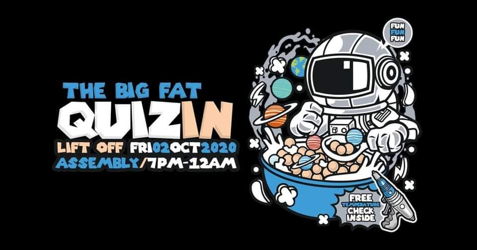 The Big Fat QuizIN Launch Assembly Leamington Socially Distanced