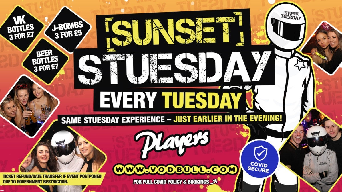 ☆ Sunset Stuesday: 6pm-10pm ☆ Final 5 Tables ☆