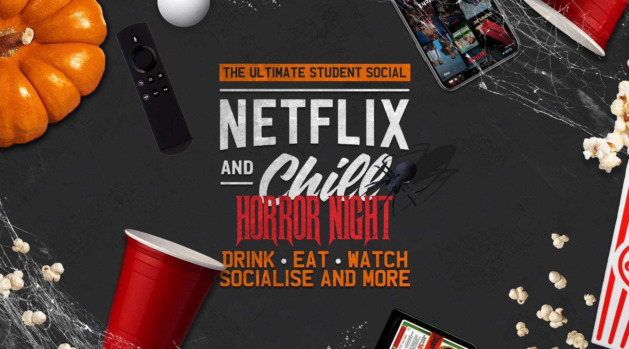 Netflix & Chill 👀 HORROR NIGHT  🎃The Ultimate Spooky Socia l 🎉