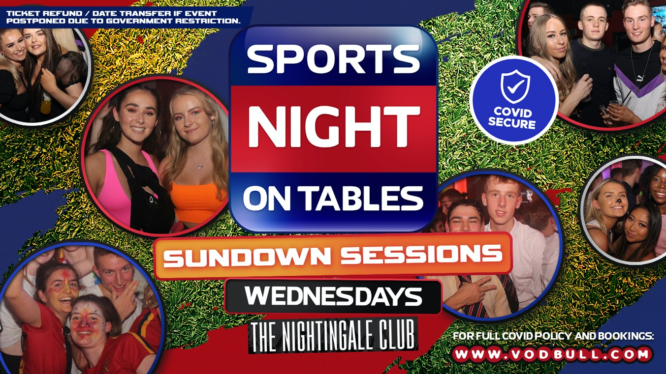 """Sports Night On Tables """"Sundown Sessions"""" 30th Sept 5-9pm"""