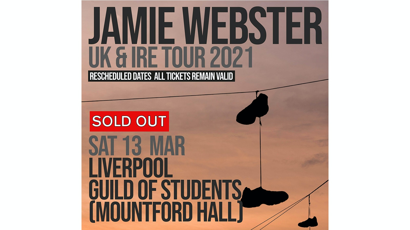 Jamie Webster at Liverpool Guild Sold Out