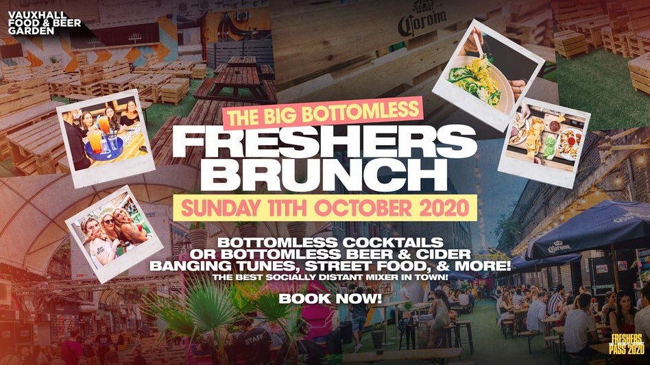The Big BOTTOMLESS London Freshers Brunch 🔥 Sunday's In Freshers 2020 🍔