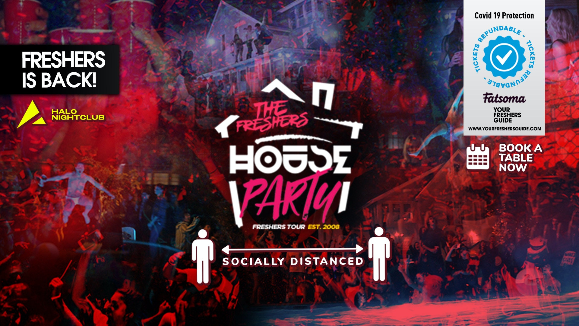 The Freshers House Party at Halo // Socially Distanced – Bournemouth Freshers 2020