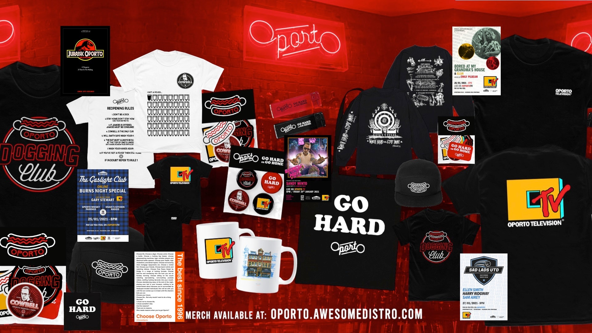 Oporto merch & posters on sale now