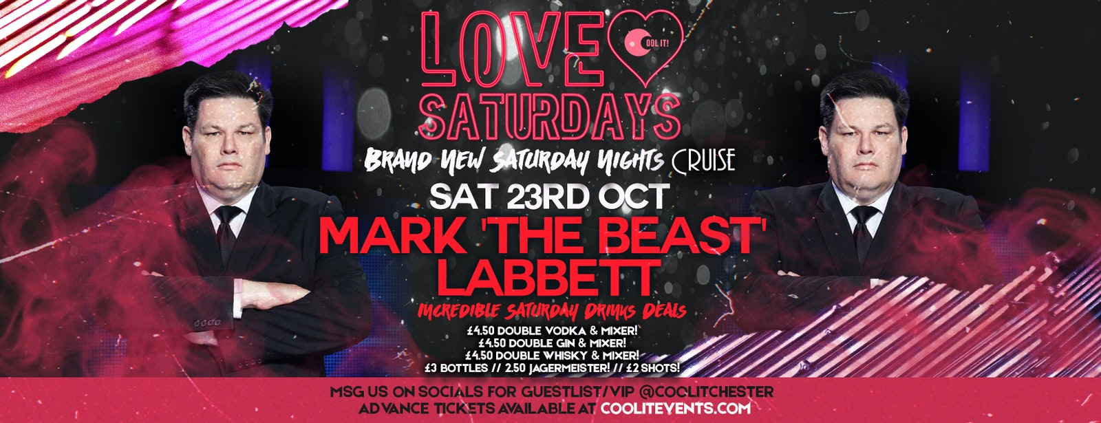 LOVE Saturdays hosted by Mark 'The Beast' Labbett