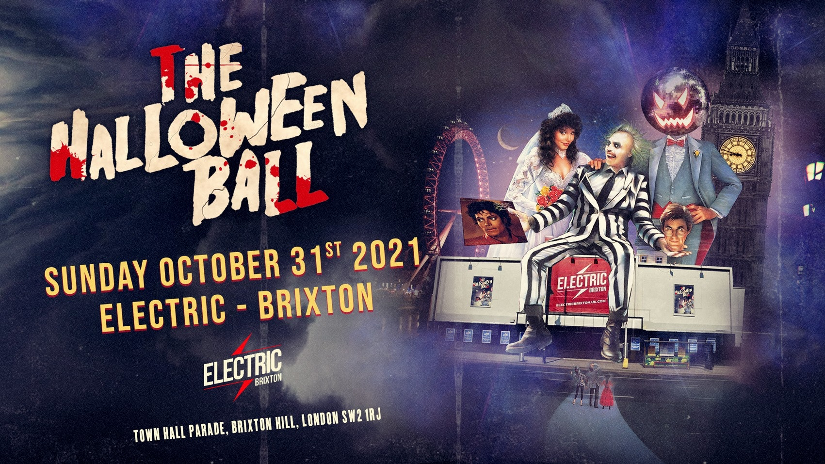 The Halloween Ball 2021 🎃 Live From Electric Brixton – Tickets Out Now!