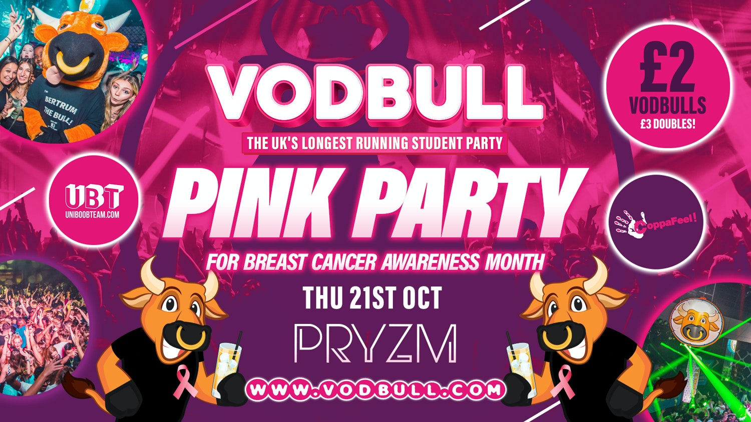 💥 VODBULL at PRYZM 👚💗THE PINK PARTY💗👚💥 21/10