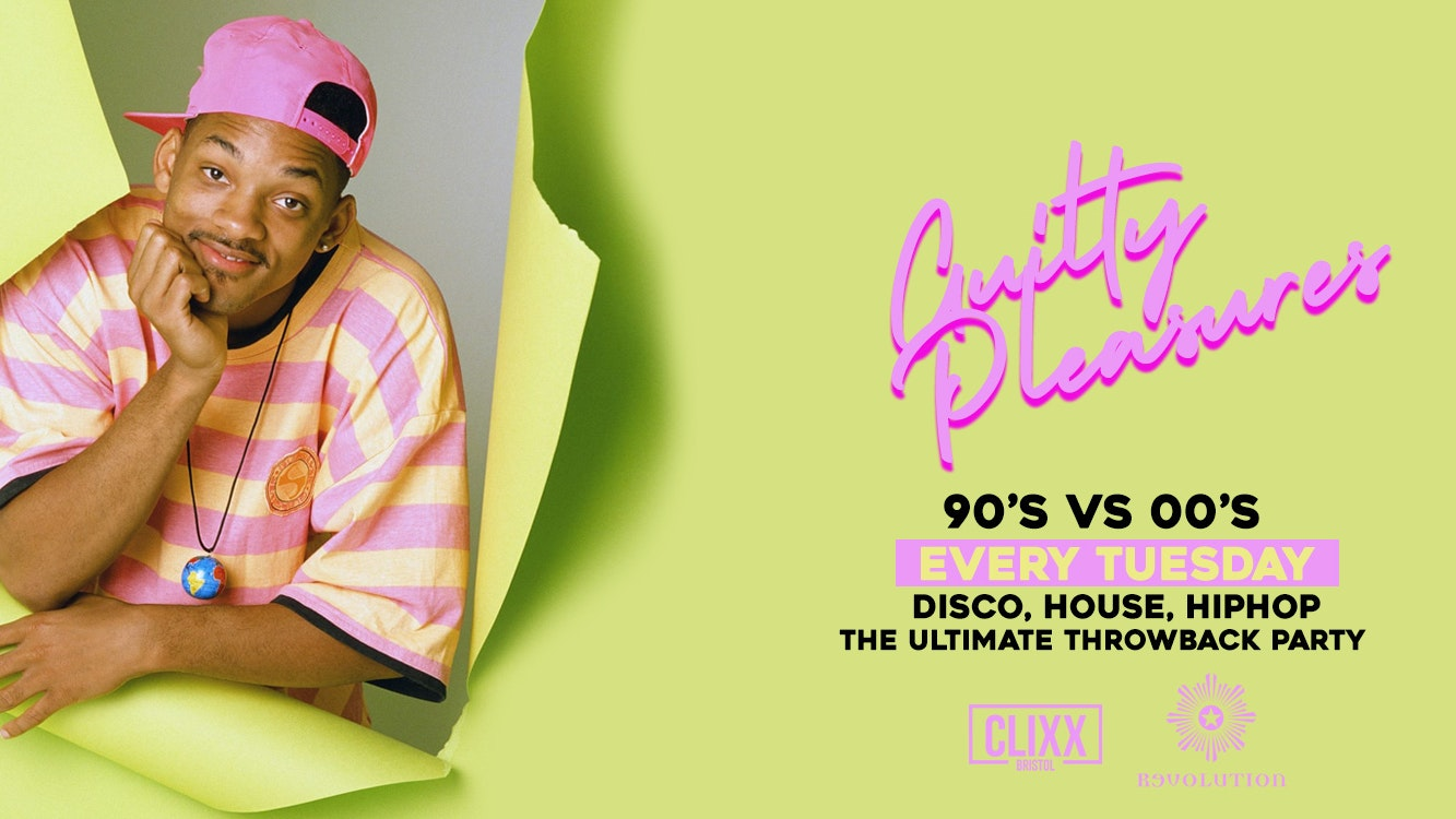 Guilty Pleasures 90's VS 00's – The Ultimate Throwback Party!