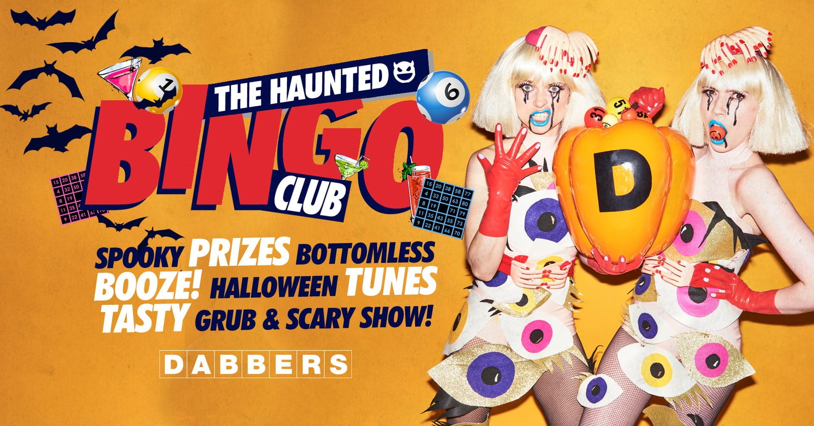The Haunted Bingo Club 🎃  Bottomless Bingo & Party 🎱  Tickets Out Now!