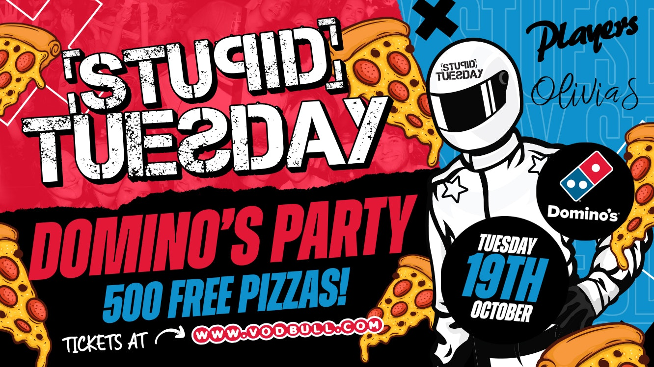 🍕 Stupid Tuesday x Domino's Party 🍕 500 FREE PIZZAS 🍕