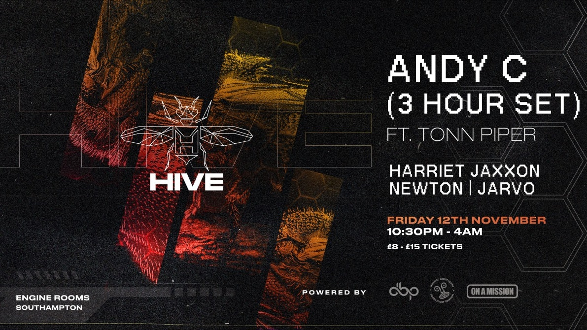 Hive Presents – ANDY C  – Warehouse party