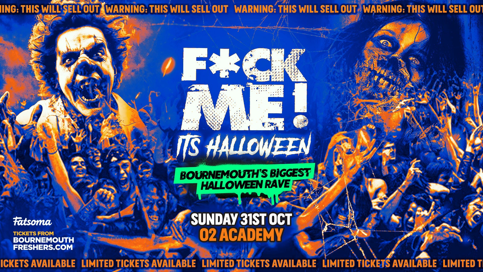 F*ck Me It's Halloween 2021 – The BIGGEST Halloween Rave This Year   Bournemouth Freshers 2021