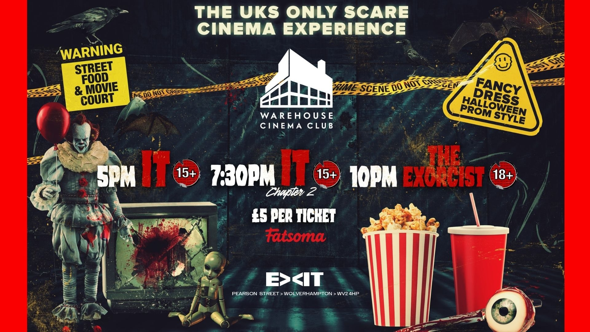 Warehouse Cinema Club Presents The Halloween Warehouse Cinema Experience