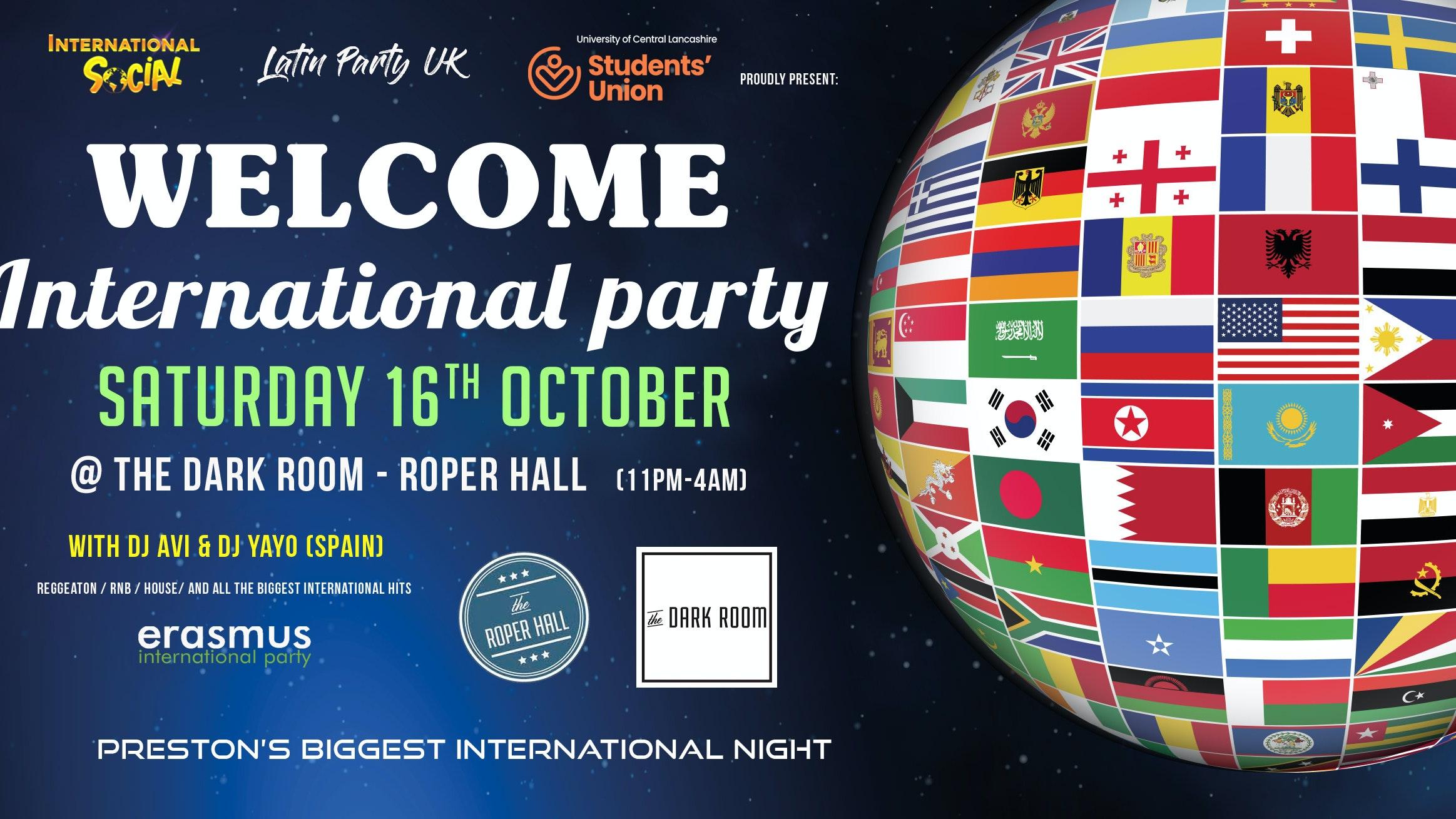 Welcome International Party – Preston