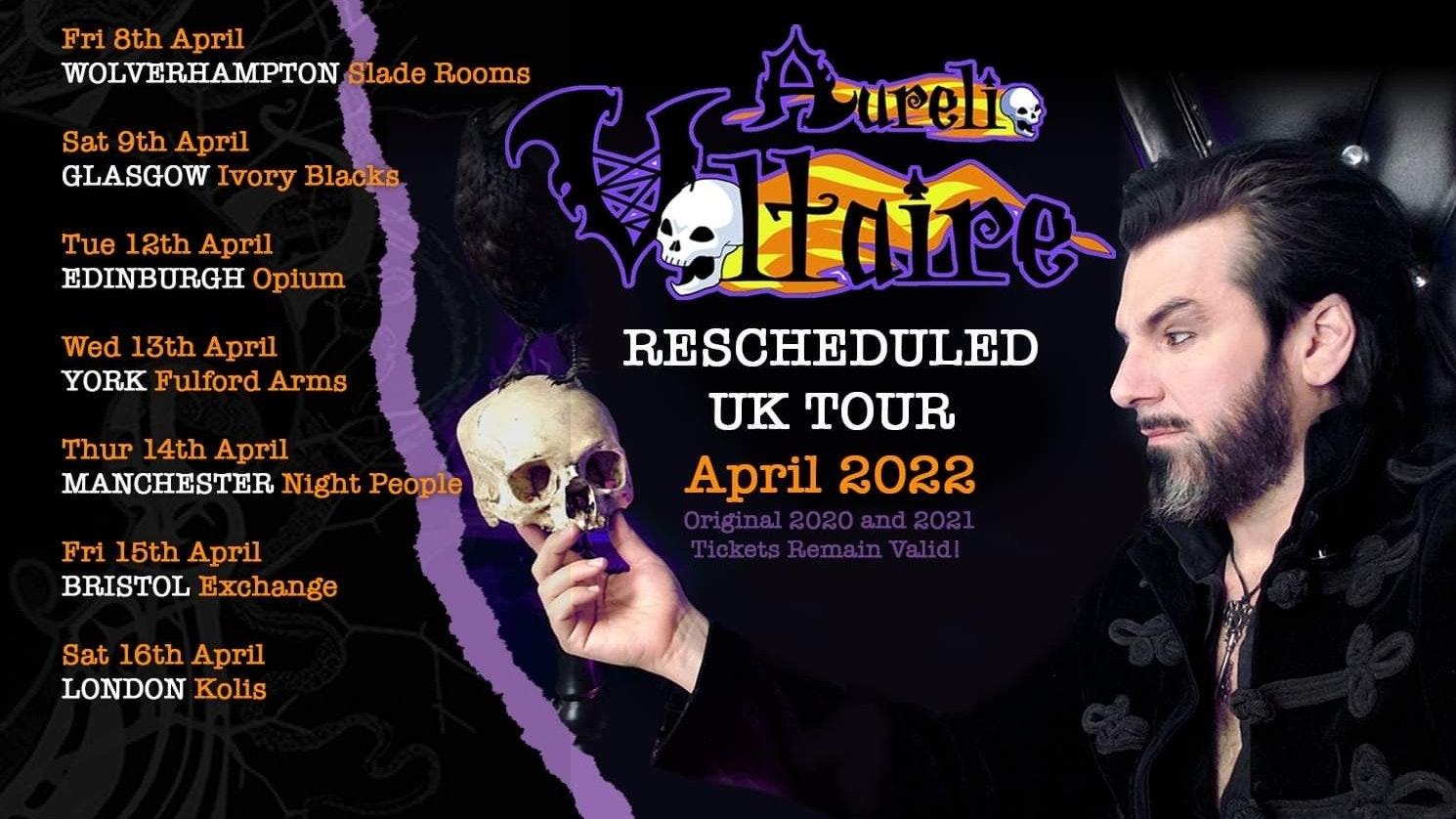 Aurelio Voltaire UK 2022 TOUR – Wolverhampton