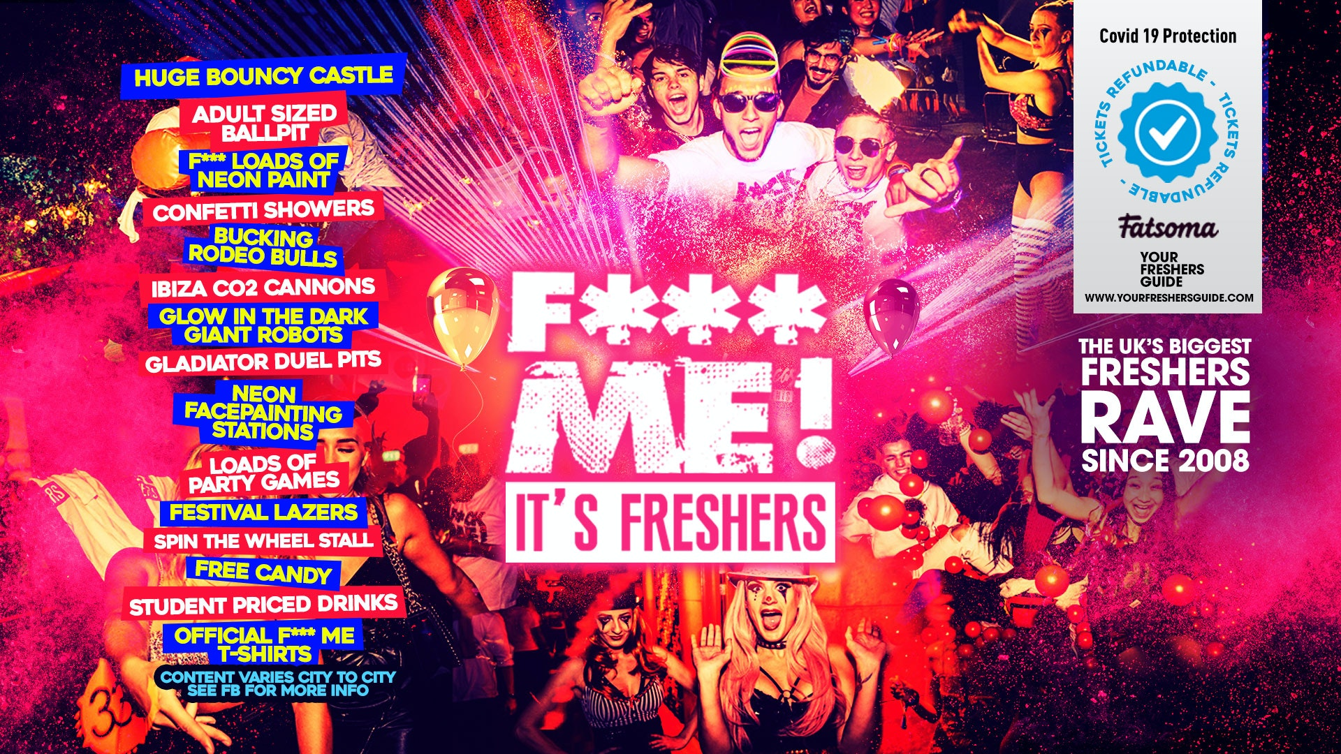 F**K ME It's Freshers | UK Tour – Freshers Week 2021 – SIGN UP FOR FREE NOW!