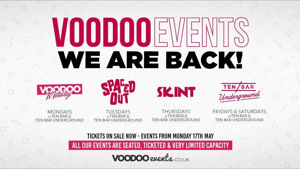 VOODOO MONDAYS OPENING PARTY @ Ten Bar Underground (Formerly Space) 17th May
